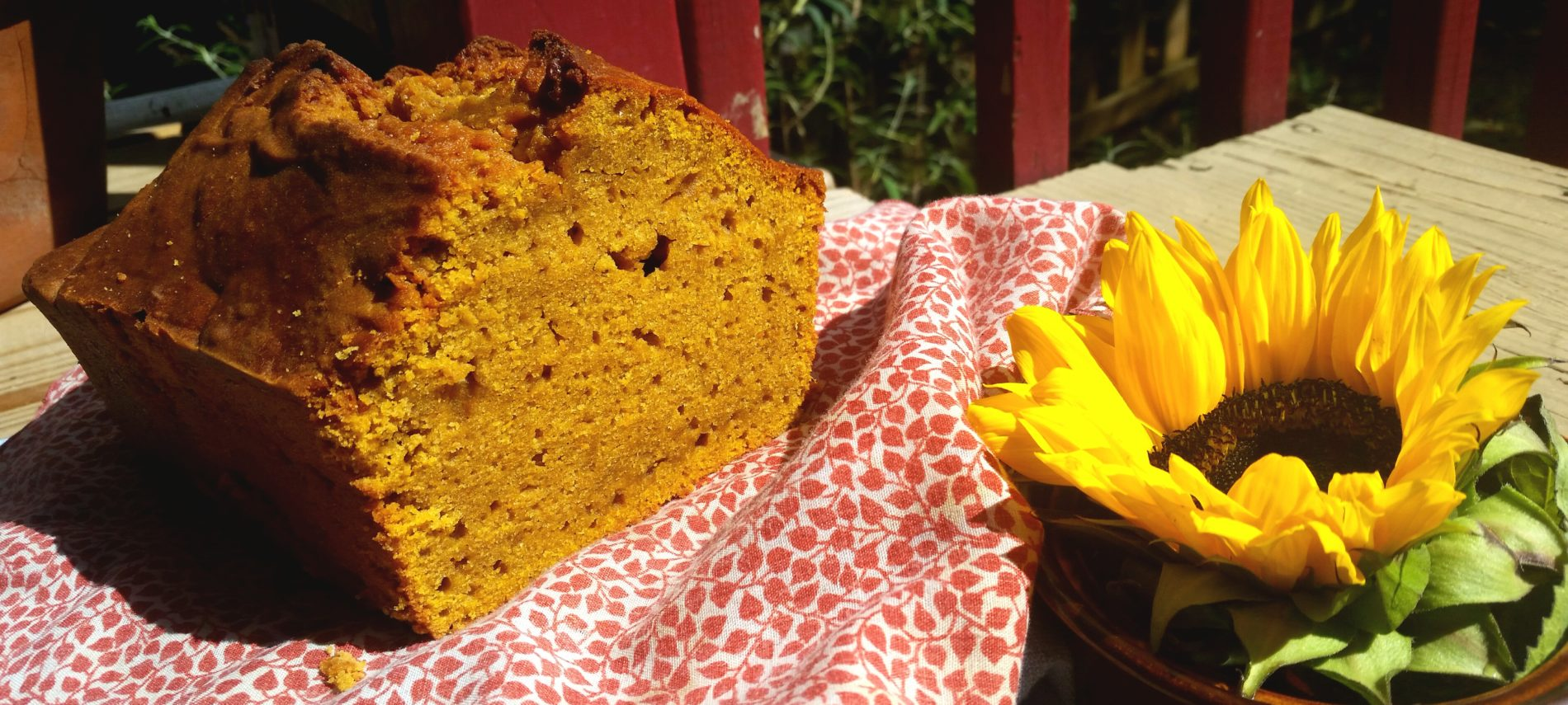 pumpkin bread with sunflower