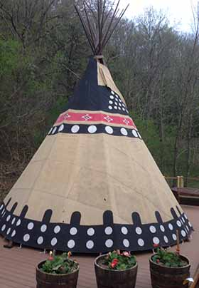 Hand painted tipi