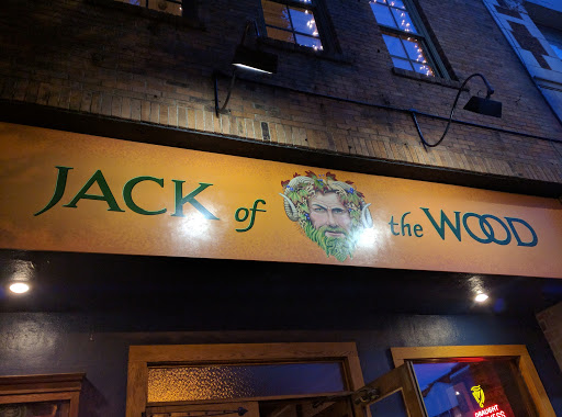 Entrance Sign over door with GreenMan picture