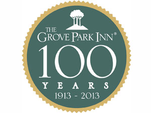 Grove Park 100 Years Logo green with a gold trip around it. 1913 to 2013