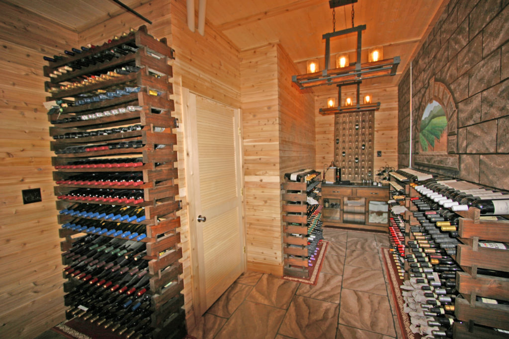 Wine cellar at Wildberry Lodge