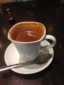 Cup of liquid truffle
