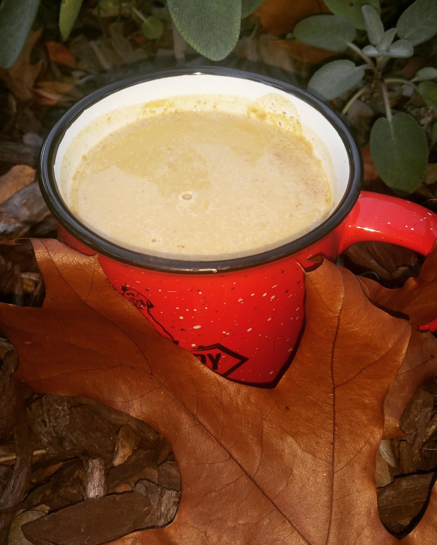 hot spiced pumpkin drink