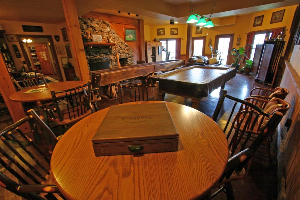 Game room Billiards and Shuffleboard