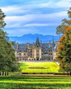 sunset views of Biltmore home