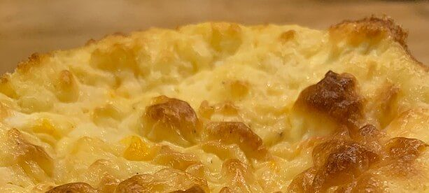 Fluffy yellow and white cooked egg souffle