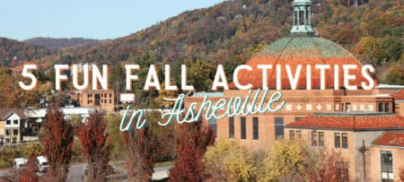Asheville NC area view of roof with text Fall Activities in Asheville