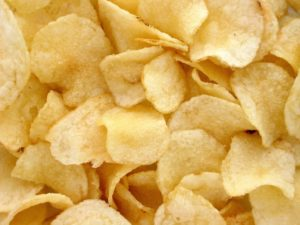 crispy golden potato chips