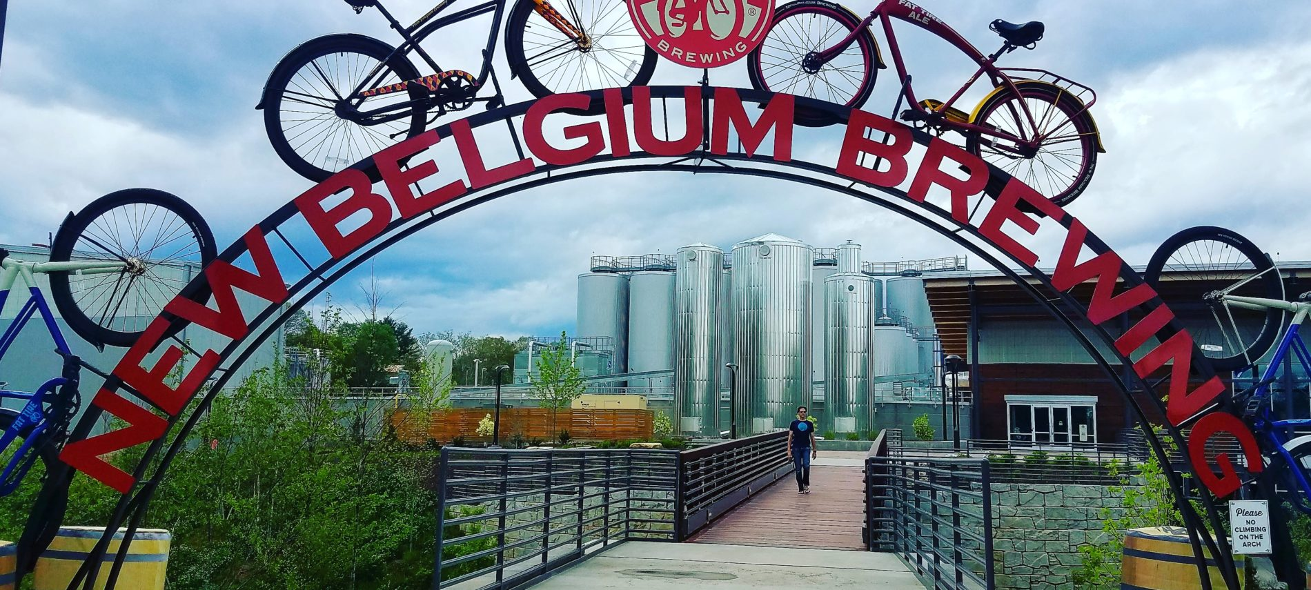 New Belgium Brewery sign and gateway