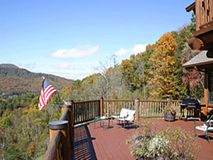 Another great view of the mountains from the deck also you can see the grill