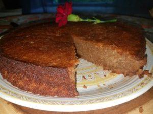 walnut cake finished